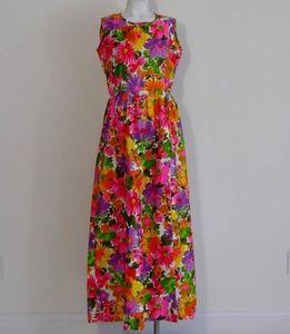 Vintage 60s Hawaiian dress & short mod floral